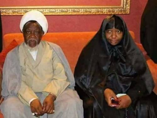 Image result for images of El-Zakzaky and wife