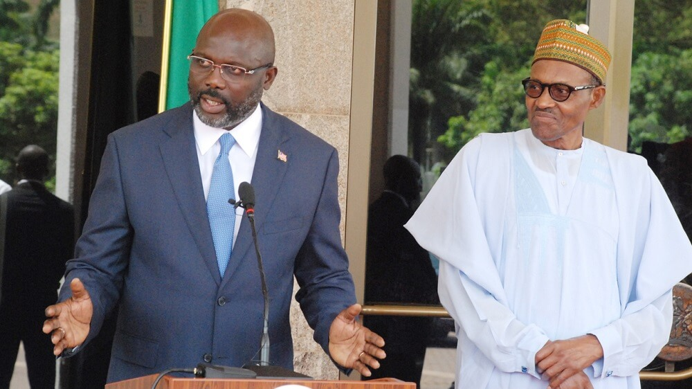 Image result for Buhari and george Weah