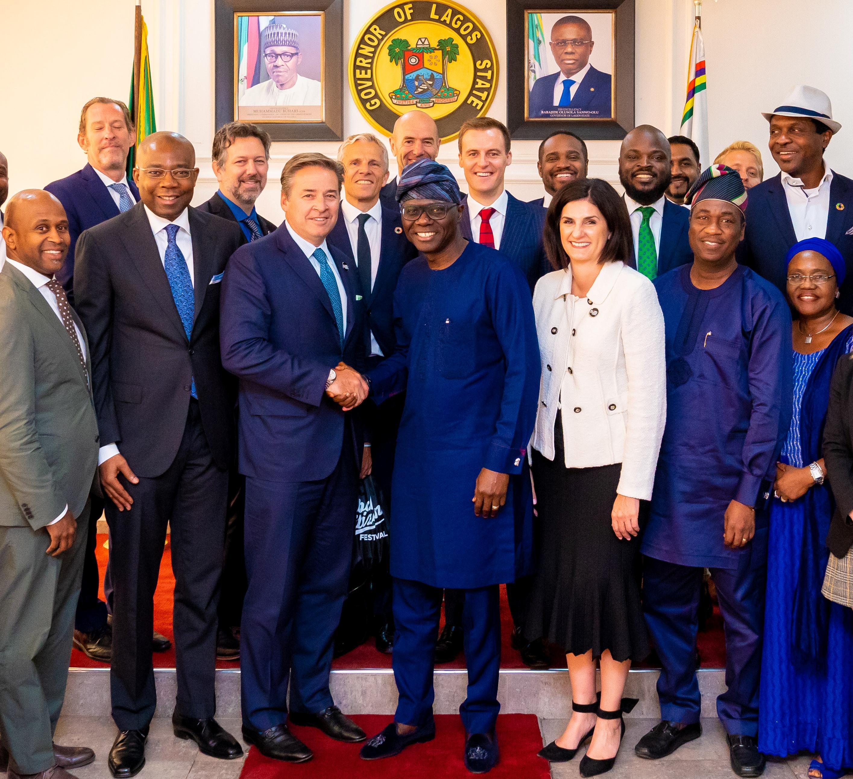 2020 Global Citizen Festival Gov.Sanwo Olu receives inspection team of Global citizen festival